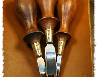French edger(bubinga grip) by Palosanto factory(handmade tool)