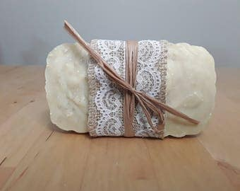 Big bar of goat's milk, oatmeal, and patchouli soap
