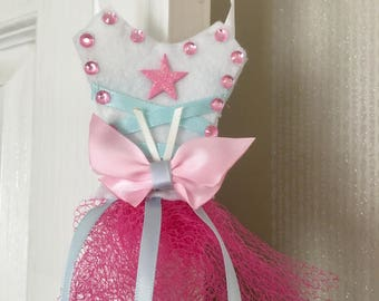 Princess hair bow and clip holder