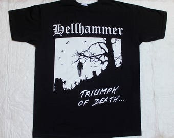 hellhammer triumph of death'83 celtic frost triptykon new black t-shirt