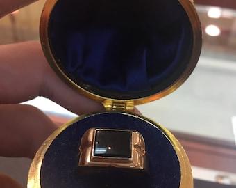 Men's 10ky onyx ring