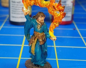 Aaron the conjuror, DnD miniature, hand painted for Dungeons and dragons