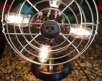 Steampunk Fan Lamp Emerson Electric--FREE SHIPPING