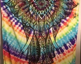 Tribal Tie Dye Tapestry