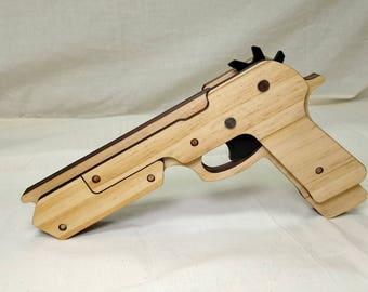 Rubber band gun M9 extended
