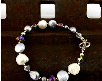 Multiple Genuine Pearl Bracelet
