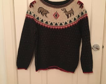 Vintage winter wonderland style jumper