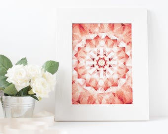 red, summer, kaleidoscope, art, download printable poster A3/A4/A5