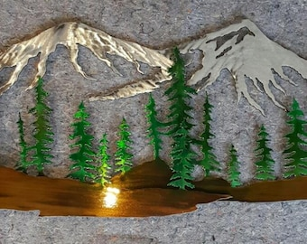 Mountain Scene Art Small