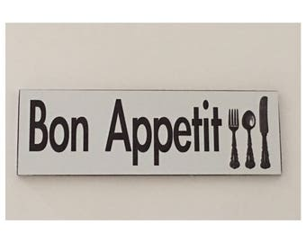 Bon Appetit French Room Sign Cafe Shabby Chic Dining House Hanging Kitchen - 2 to choose from