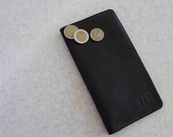 "Mens long wallet leather ""Uniwallet"""