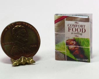 Dollhouse Miniature Comfort Food Recipe Book by Dollhouses and More