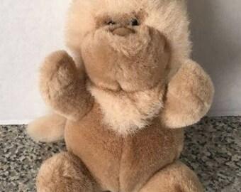 """Gund Vintage 1989 Lion Plush Brown Stuffed Animal 7"""""""