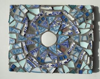 Mosaic rectangular plaque