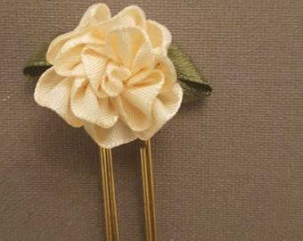 Paperclip - trombone - Ribbon satin Fleur