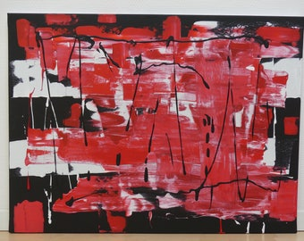 """Abstract acryl painting on canvas - 23.62x31.5"""""""