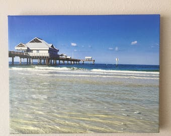 11x14 beach photo canvas