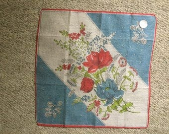 very rare VINTAGE handkerchief MARVIN Zurich Switzerland from ca. 1950