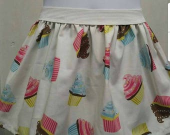 Blue pink cupcake skirt