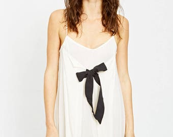WHITE RIBBON DRESS