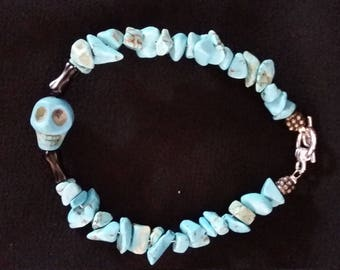 Turquoise Skull Bracelet