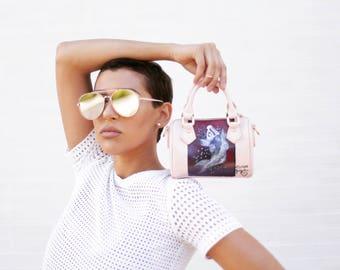 Minature Pink Faux Leather Purse: Coy