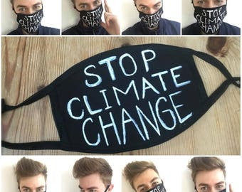 Stop climate change protective & rebellious mask