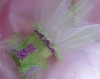 Tinkerbelle Inspired Tutu custom made to your measurements up to a 16 inch girth