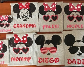 Disney Family Shirts; Disney Matching Shirts; Disney Family Matching Shirts; Mickey Shirts; Minnie Shirts