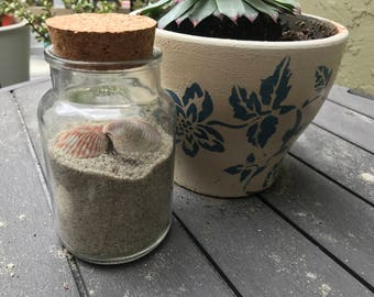 Large Jar of SoCal Beach Sand (with or without shells)
