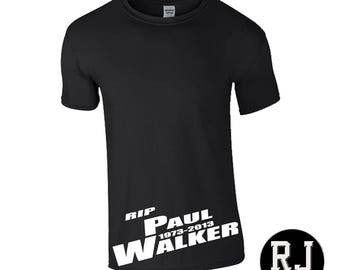 RIP Paul Walker T Shirt Fast And Furious Film Movies