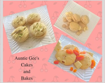 Trio of White Chocolate Biscuits Handmade 1400 gr