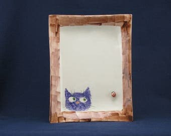 Cat & Window Ladybug plate