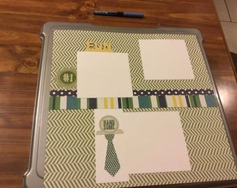 12 x12 Fun, Handsome Single Page Layout