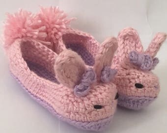 Crochet bunny slippers, bunny booties, easter bunny slippers, newborn bunny booties, child bunny shoes, adult bunny slippers