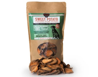 Sweet Potato Dog Treats - Chips - 100% Natural and American Made, No artificial flavors or preservatives