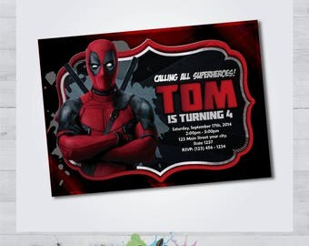 Printable Deadpool Invitation - Deadpool Invitation - Deadpool Birthday Party