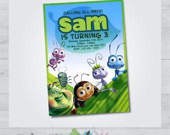 A Bug's Life Invitation - A Bug's Life Birthday - A Bug's Life Occasion - A Bug's Life Party - A Bug's Life Printable - A Bug's Life Card