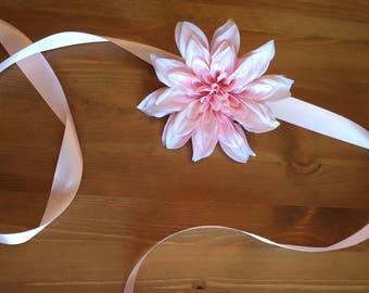 Pink Maternity Sash / Flower Sash / Maternity Accessories / Pink Sash / Baby Shower Ideas