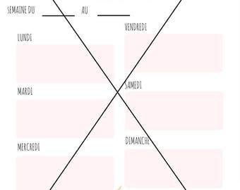 Printable weekly planner (Mon to Sun) PDF