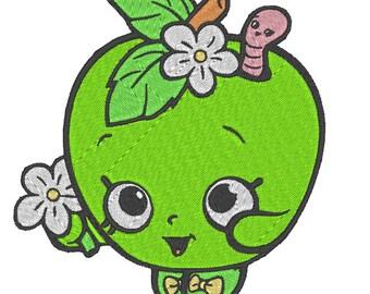 Shopkins Embroidery Design (Apple Blossom)