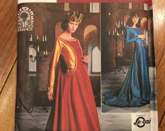 Pattern Medieval dress size 10 - 14
