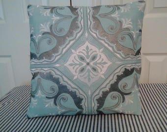 Embroidery medallion design cushion, pillow