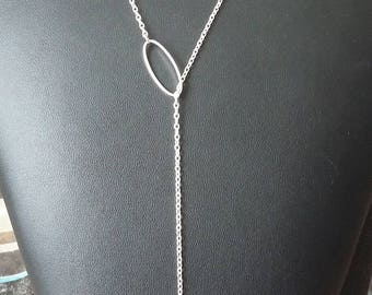 Long silver necklace