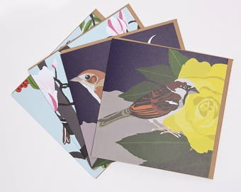 British Birds greeting card set