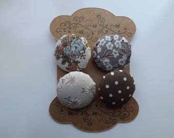 Fabric Covered Buttons - Vintage Floral Designs