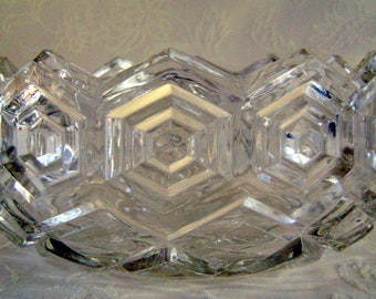 Hexagon Bowl Suspected of Being Heisey Lead Crystal