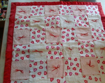 Red Heart & Bows Quilt