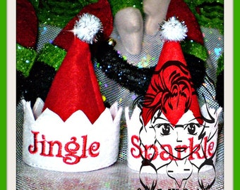 ELF SiZE Hat & TRim with 30 NaMES Holiday Christmas ~ In the hoop - INSTaNT Download Machine Embroidery Design by Carrie