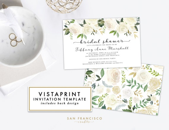 Vistaprint Invitations Wedding: Bridal Shower Invitation For VISTAPRINT Instant Download